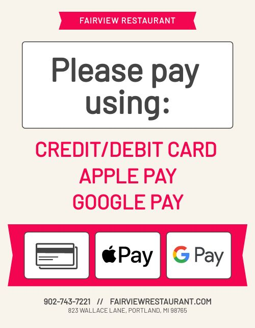 Card Payment Flyer