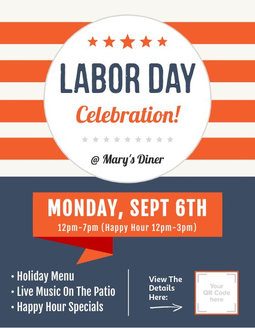 Labor Day Promotional Flyer