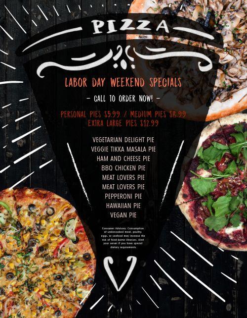 Italian Pizza Deal Menu