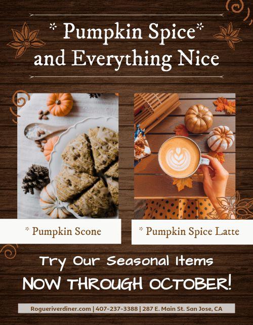Pumpkin Specials Flyer
