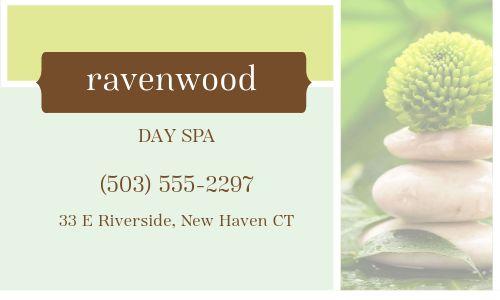 Spa Treatment Business Card