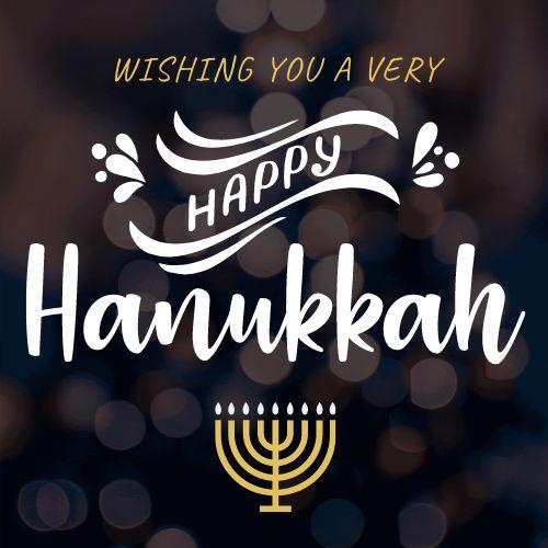 Hanukkah Instagram Post