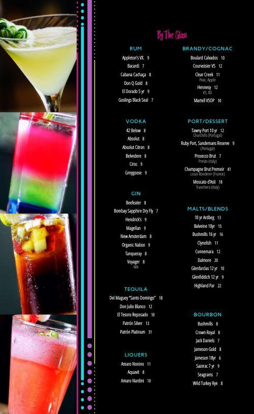 Colorful Night Club Menu