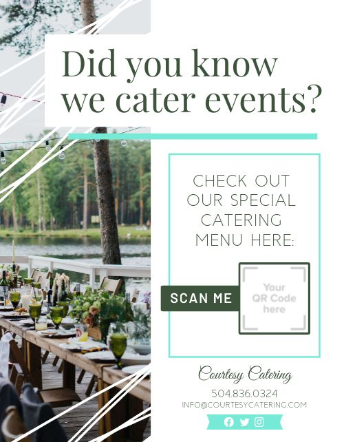 Event Catering Signage