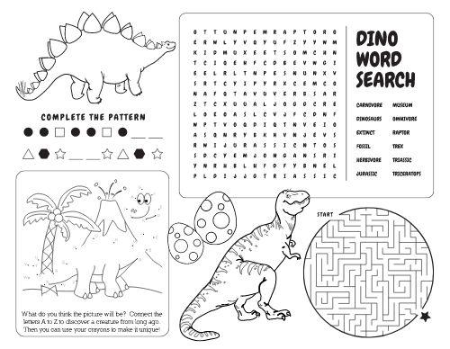 Dino Kids Menu