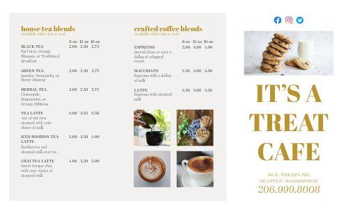Cafe List Takeout Menu