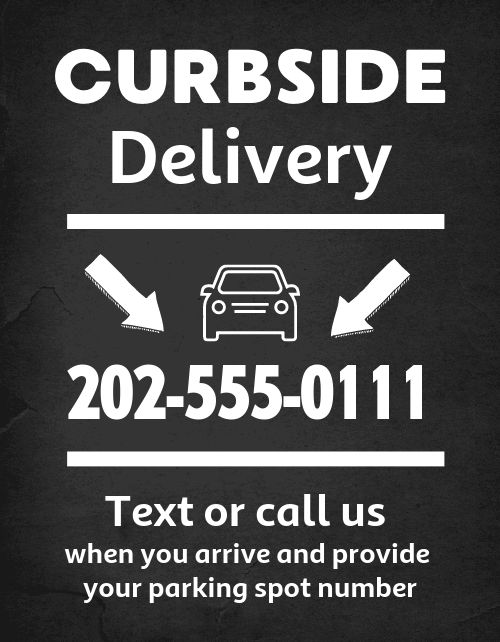 Curbside Delivery Flyer