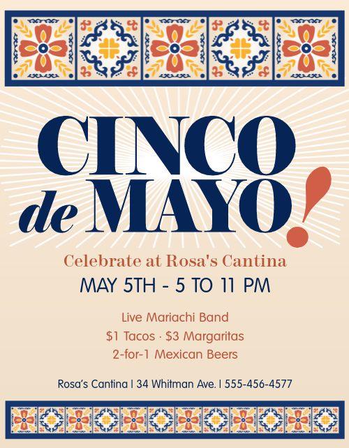 Traditional Cinco de Mayo Flyer
