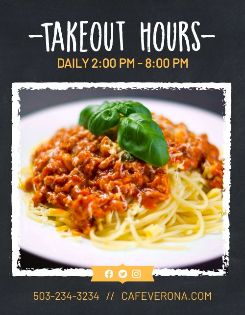 Takeout Operation Hours Flyer