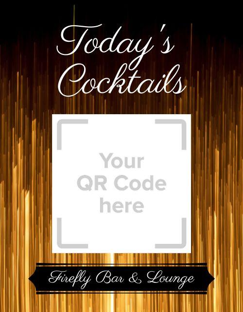 Cocktail Menu Flyer