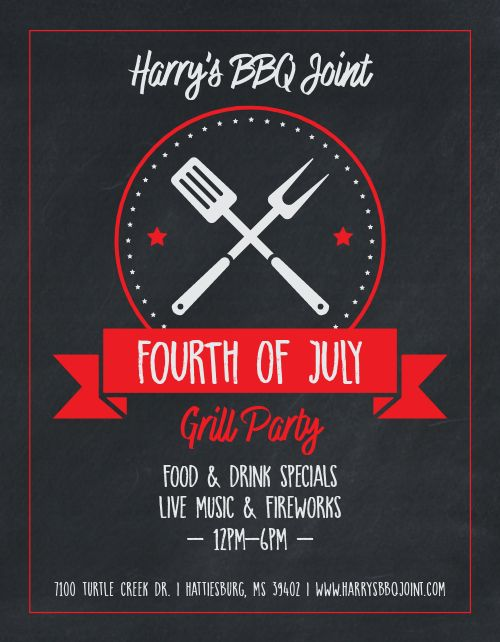 Fourth of July Grill Flyer