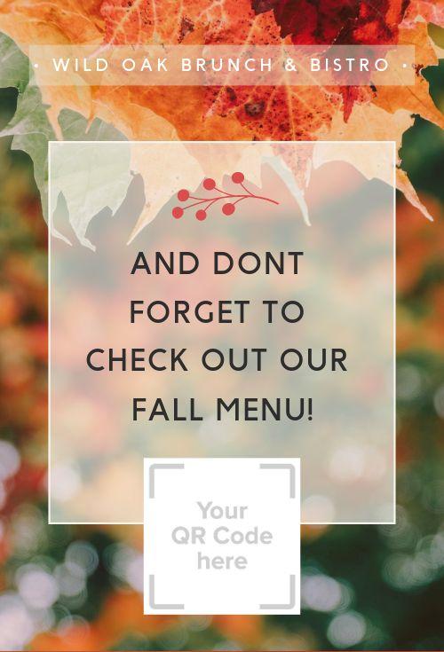 Autumn Table Tent