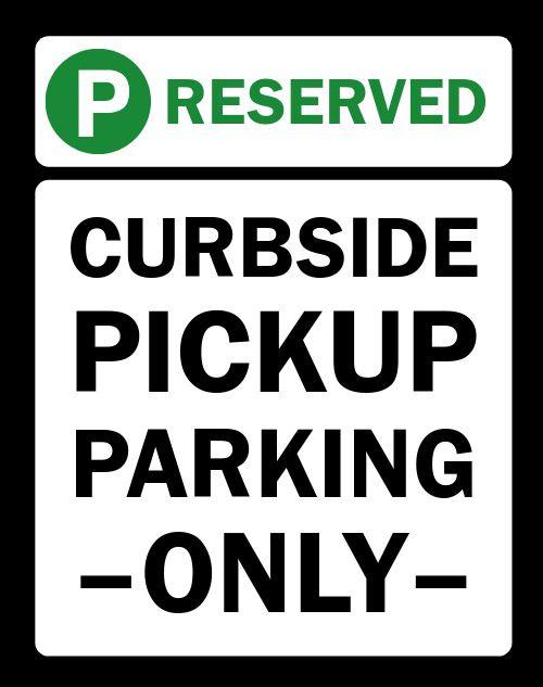 Reserved Parking Sandwich Board