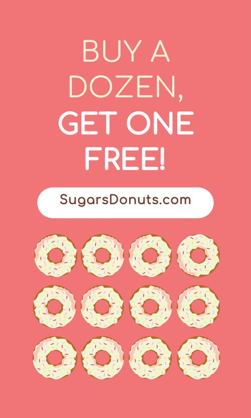 Donut Punch Card