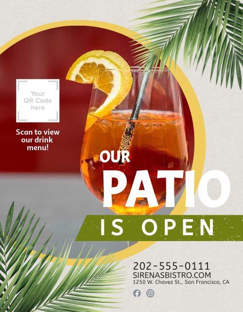 Open Patio Flyer