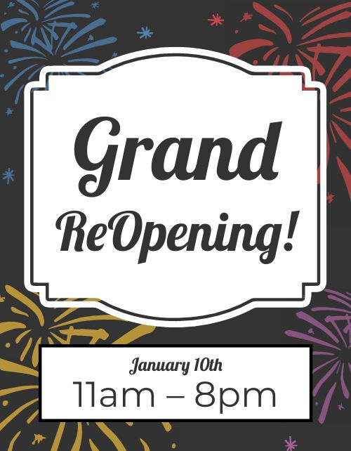 Grand Reopening Sign