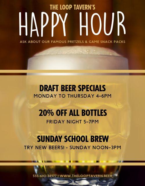 Beer Happy Hour Flyer
