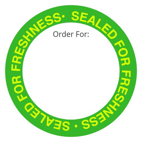 Freshness Takeout Label