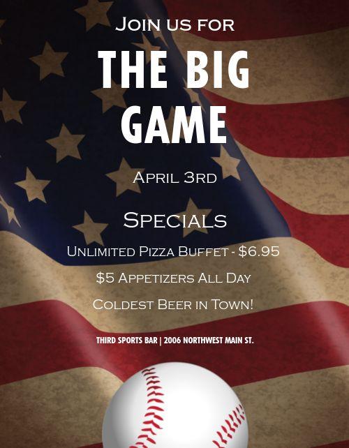 Baseball Opening Day Flyer