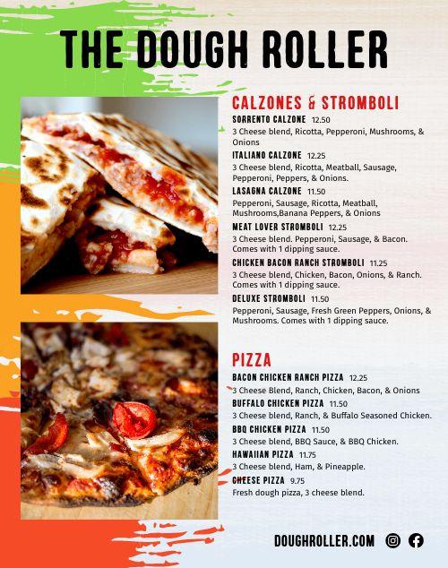 Pizza Food Cart Menu Poster