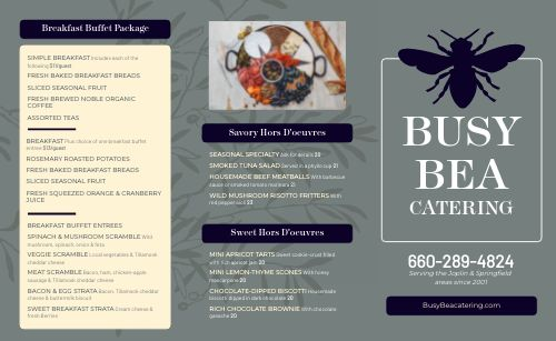 Buffet Catering Takeout Menu