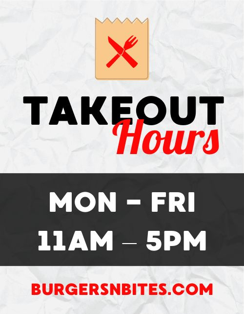 Takeout Hours Flyer
