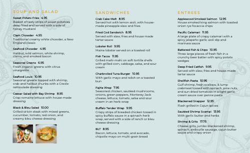 Fresh Seafood Takeout Menu