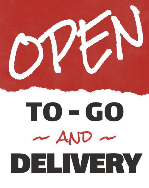 Open Delivery Sandwich Board
