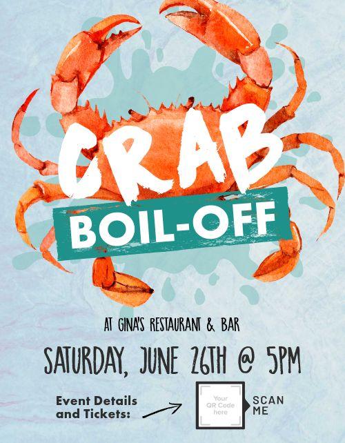 Crab Boil Flyer