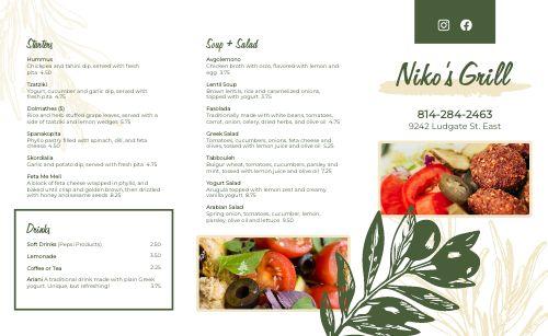 Mediterranean Grill Takeout Menu