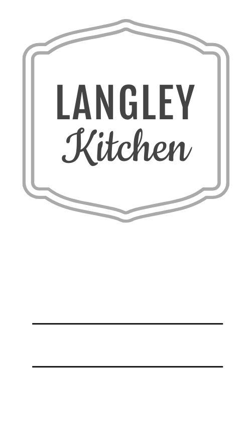 Restaurant Logo Label