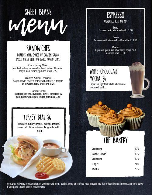 Cafe Morning Snack Menu