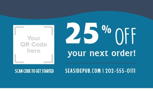 Discount Offer Business Card