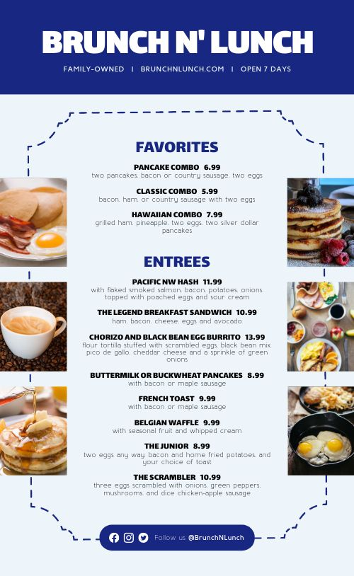 Basic Breakfast Menu