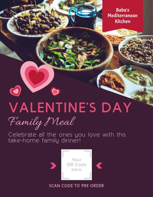 Valentines Day Family Meal Flyer