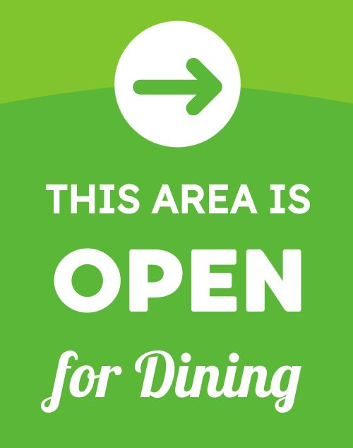 Open for Dining Poster