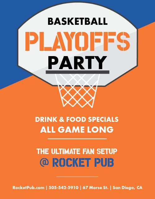 Basketball Playoffs Party Flyer