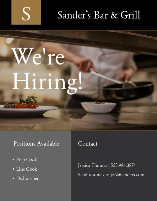 Restaurant Jobs Flyer