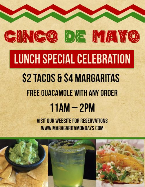Cinco De Mayo Lunch Flyer