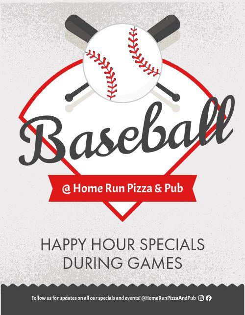 Baseball Happy Hour Flyer