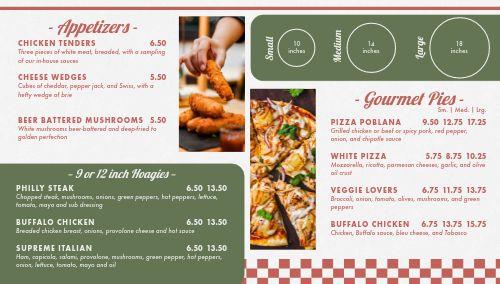 Pizzeria Digital Menu Board