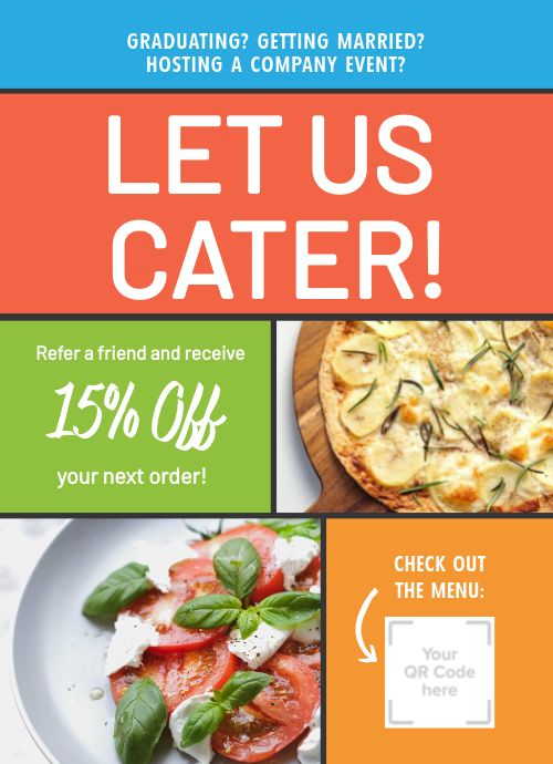 Catering Counter Card