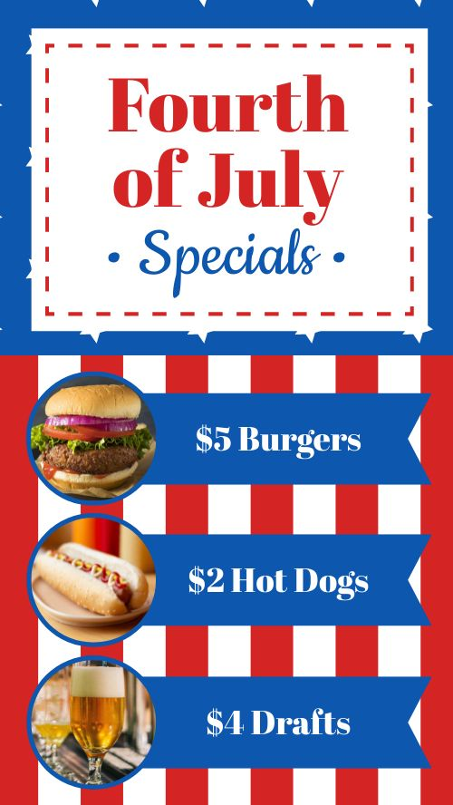 Fourth of July Specials Instagram Story