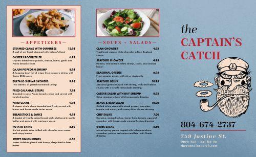 Casual Seafood Takeout Menu