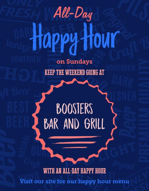 All Day Happy Hour Flyer