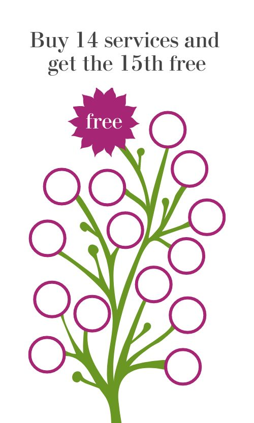 Floral Spa Loyalty Card