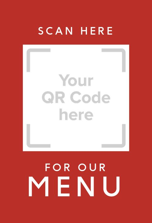 QR Code Menu Table Card