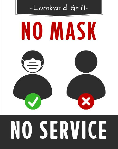 Restaurant Mask Signage