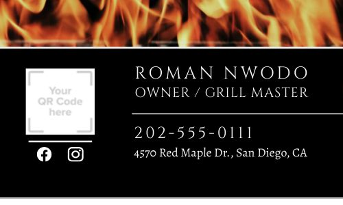BBQ Code Business Card