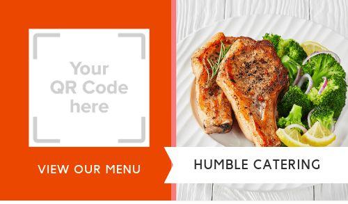 Catering QR Code Sticker